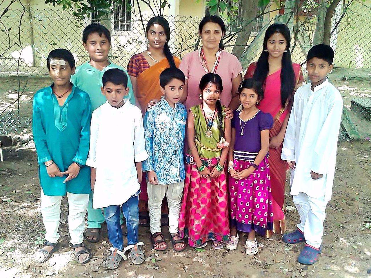 With Carnatic Life students during grade exams at Kalakshetra, Chennai